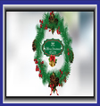 Christmas wreath card vector image
