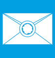 envelope with wax seal icon white vector image