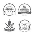 fast food and grill badges vector image