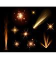 Festive orange firework set vector image