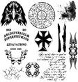 gothic elements vector image