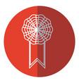 rosette decoration banner element red circle vector image