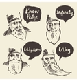 Sketch old sage talk boxes bubbles place your text vector image
