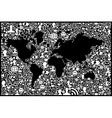 Social media network icon Earth map vector image