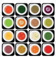 soup icons vector image