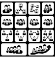 teamwork user icon vector image