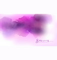 watercolor pink and violet background vector image