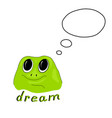 with green frog vector image