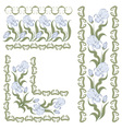 iris pattern vector image vector image