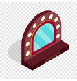 mirror with bulbs for makeup isometric icon vector image