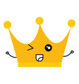 king crown kawaii character vector image