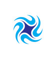 Circle swirl spin logo vector image