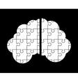 brain puzzle vector image