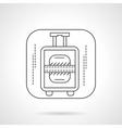 Luggage icon flat line design icon vector image
