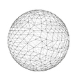 3d Sphere Global Digital Connections Technology vector image vector image