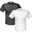 Black and white Tshirt Front View vector image