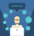 flat Online shopping concept Man with comp vector image
