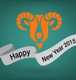 Holidays New Year 2015 of the Goat vector image
