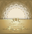 luxurious gold background with napkin vector image