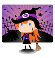 Witch Halloween Girl vector image
