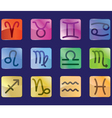zodiac color vector image