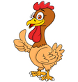 Hen cartoon with thumb up vector image