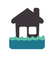 emergency house flood and natural disaster vector image
