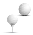 Golf balls on the stand vector image