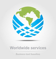 Worldwide services business icon vector image vector image