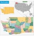 Washington map vector image