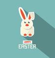Retro Easter Paper Flat Design Bunny vector image
