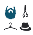 Man styling pictograms set vector image