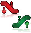 escalators signs vector image