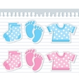 baby stickers vector image vector image