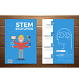 Stem education book cover and flyer template vector image vector image