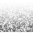 abstract gray halftone background with curved dots vector image