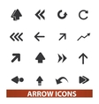 arrow icons signs set for web and mobile design vector image