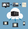 big data cloud document storage vector image