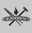 Blacksmith emblem or badge vector image