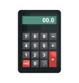 Calculator maths tool isolated flat icon vector image