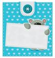 card with a teddy bear vector image