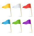 Colorful cocktail flags set multi colored vector image