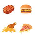 fat food icon cartoon vector image