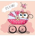 Greeting card it is a girl vector image