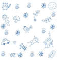 hand draw childs doodle art vector image