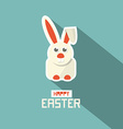 Retro Easter Paper Flat Design Bunny vector image