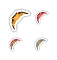 Set stylish paper stickers croissant in the glaze vector image