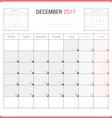 Calendar Planner for December 2017 vector image