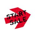 start sale rubber stamp vector image
