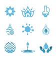Water Drop Shapes Collection Icon vector image